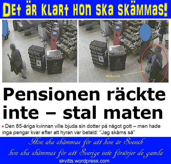 Slämmas för Sverige